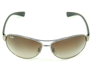 489e15a257 Image Unavailable. Image not available for. Color  New Ray Ban RB3386  004 13 Gunmetal Brown Gradient 63mm Sunglasses