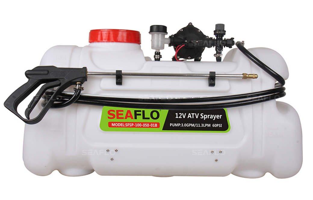 Seaflo 26 Gallon ATV Tree Sprayer 12V 5GPM 60 psi 42 foot Spray Height
