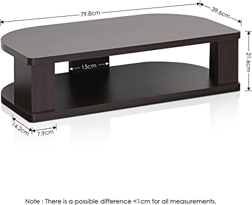 FURINNO Indo Wide Swivel Shelf for TV, 31.4
