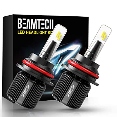 BEAMTECH 9007 LED Headlight Bulb,CSP Chips 8000 Lumens 6500K Xenon White Conversion Kit of 2 All in One Plug and Play: Automotive