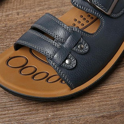 MAZHONG Sandals Casual Decoration Male 5 Belt Beach Cn38 eu38 CN40 Shoes Comfortable Color 5 EU39 Blue UK6 Buckle Blue and Uk5 dwXwIx5rq