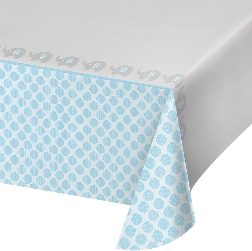 """Creative Converting 316939 Table Cover, 54"""" x 102"""", Blue"""