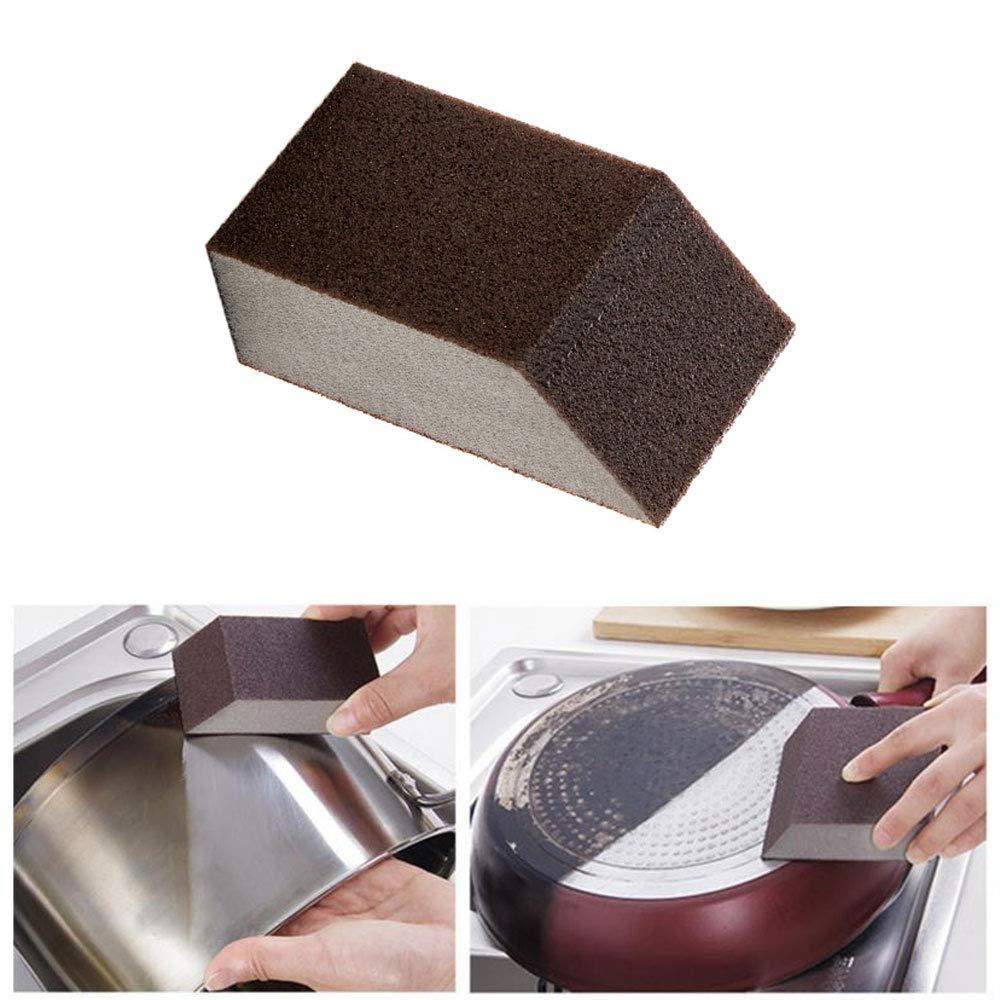 ba/ño Esponja de limpieza para fregadero gomas de borrar estropajos macetas uso para fregar cocina sartenes 1 unidad marr/ón fregaderos y etc
