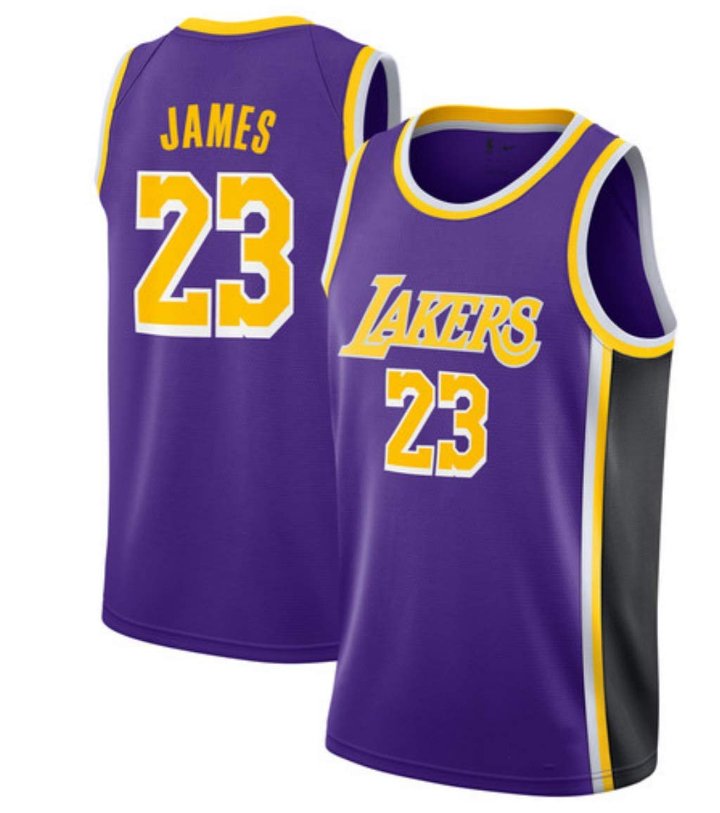 runvian Lebron James, Camiseta de Baloncesto, Tejido Bordado, Ropa de Trabajo, Ropa Deportiva, Lakers: Amazon.es: Deportes y aire libre