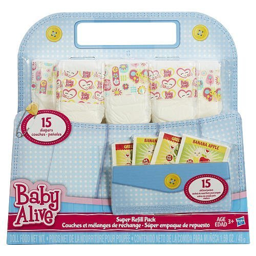 Baby Alive Doll Food and Diapers Super Refill Pack - 30 pieces (Diapers And Food For Baby Alive compare prices)