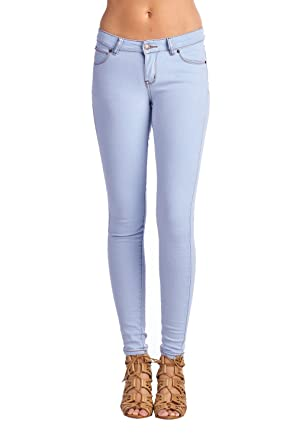Blue Age Womens Perfect Fit Stretch Cotton Skinny Jeans (0, P9718L_LTBLUE)