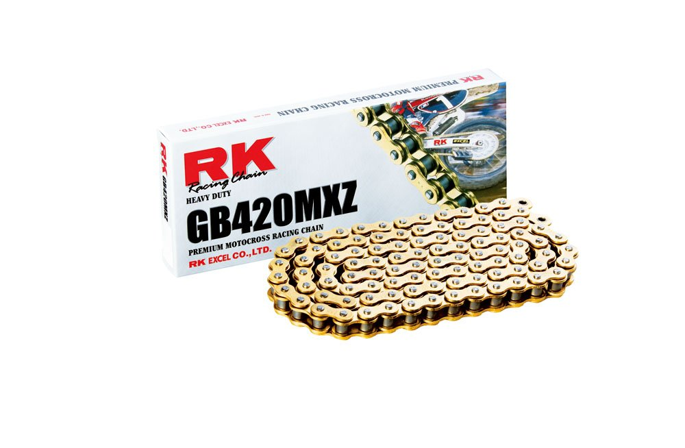 RK Racing (GB420MXZ-106) Gold Heavy Duty Chain with Connecting Link RK Racing Chain