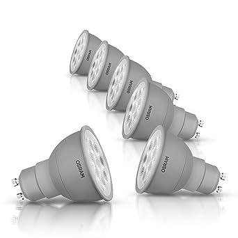 Osram Ampoule LED Superstar Spot Variable Plastique 6 W GU10 Blanc Chaud Lot de 6