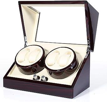 WCX Estuche Bobinadora para 4 Relojes, Cajas para Relojes, Cargador para Relojes Automáticos, Pintura de Piano 4 Modos de Rotación (Color : Blue): Amazon.es: Relojes
