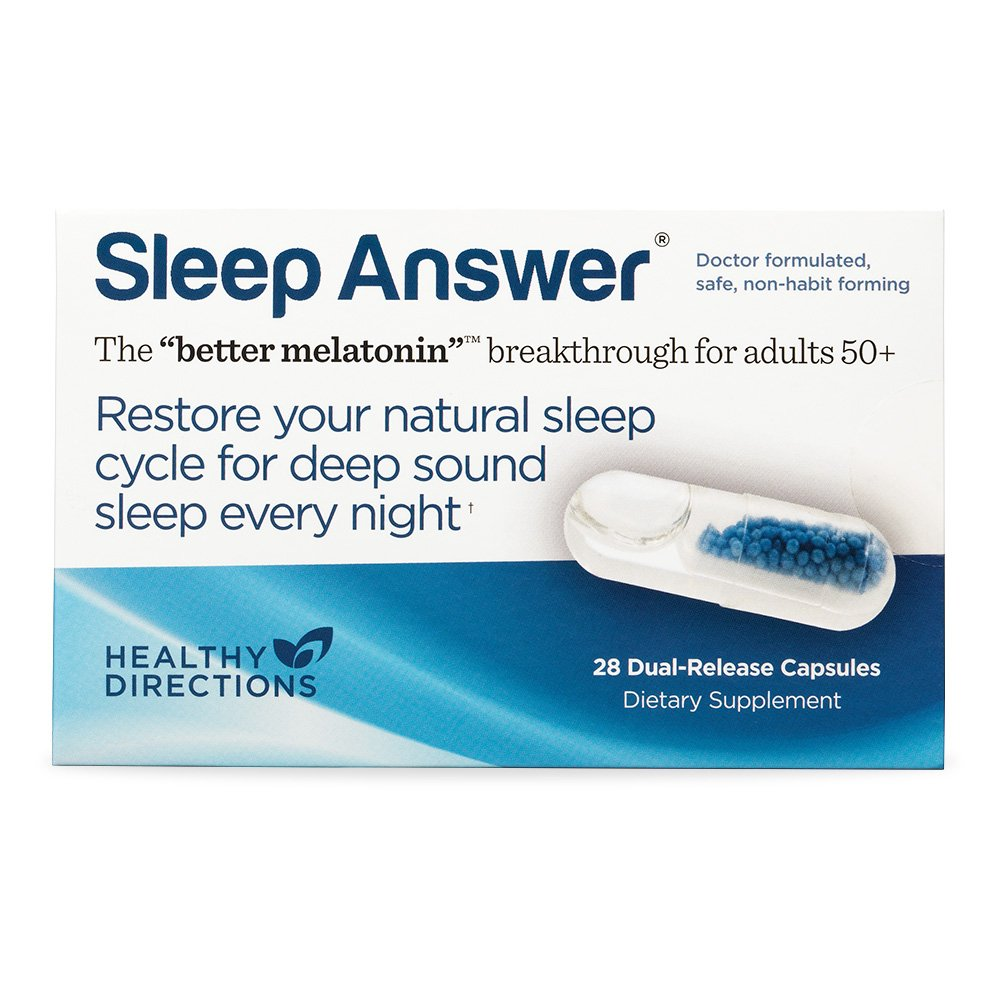 Dr. Richard Wurtmans Sleep Answer Delivers Low Dose Melatonin Throughout The Night, 28 Dual