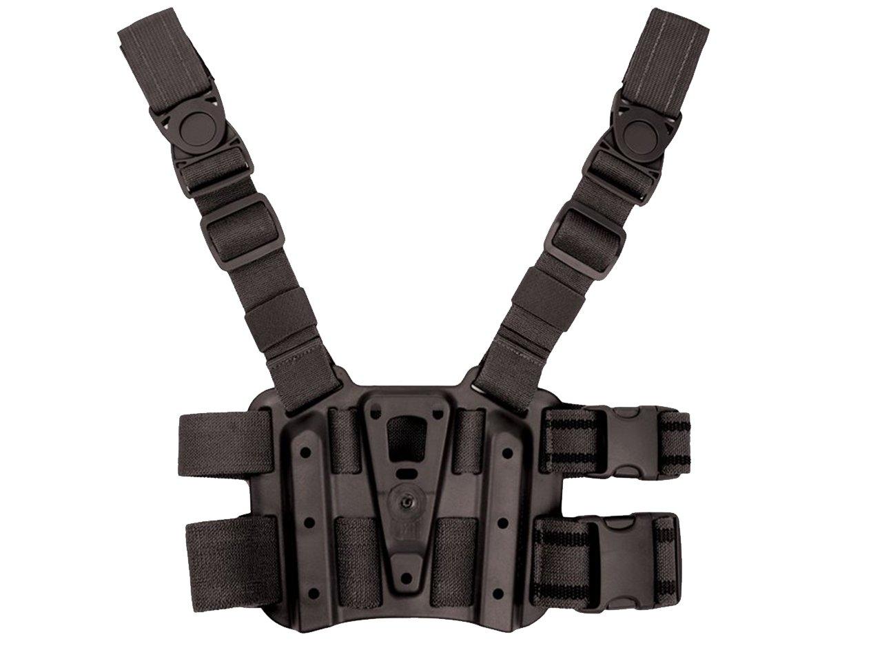 Tactical Dropleg Drop Leg Panel Platform for Holster Magazine Flashlight Pouch Airsoft Black