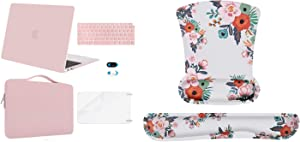 MOSISO MacBook Air 13 inch Case 2020-2018 Release A2179 A1932, Plastic Hard Shell&Sleeve Bag&Keyboard Cover&Webcam Cover & Mouse Pad Wrist Rest Support & Keyboard Set