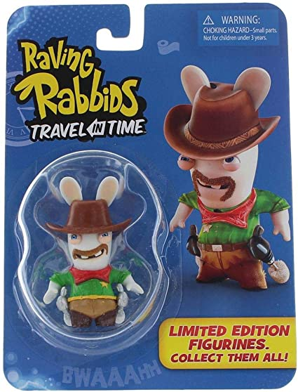 Raving Rabbids TRAVEL in TIME Limited Edition COWBOY mini action figure UBISOFT