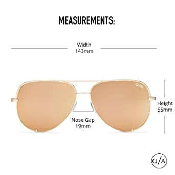 96dbef4a2d Quay Australia HIGH KEY Men's and Women's Sunglasses Classic Oversized  Aviator