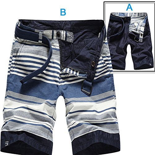 LOG SWIT Patchwork Cargo Shorts Men Loose Fit Reversible Cargo Military Short Pants Reversible Navy 28 Reversible Cargo Pants