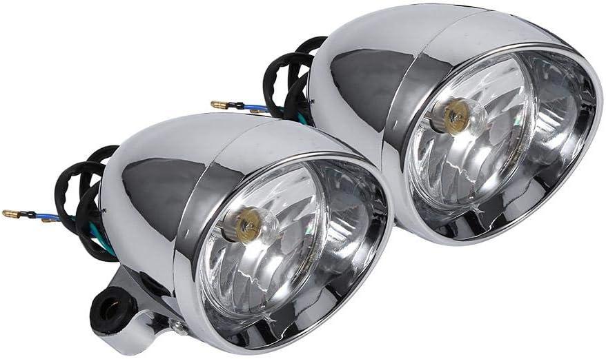 12V 10W Focos de motocicleta Impermeables Keenso Faros universales Conducci/ón Luz antiniebla L/ámpara de foco Scooter Luz de punto Luz auxiliar