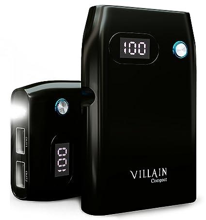 Amazon.com: Villano Compact – 10050 mAh Power Bank con 2 ...