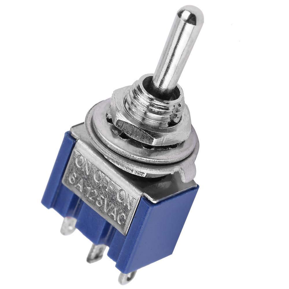 10 unids MTS-103 tercera marcha de tres patas ON-OFF-ON Mini interruptor de palanca interruptor basculante interruptor twister