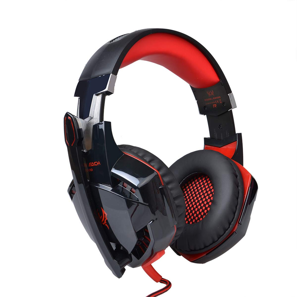 HUAN Gaming Headphones Over-Ear Headphone Headset Headband with Mic, Noise Canceling Gaming Headset (Color : 3)