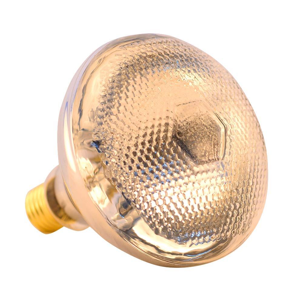 BONGBADA PAR38 100G Clear 250W Infrared Heat Lamp Light Bulb Farm Animal
