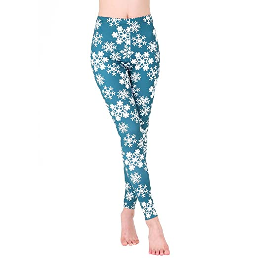 7f434aacb485b Image Unavailable. Image not available for. Color: URIBAKE Women Christmas  Leggings 3D Print Snowflake ...