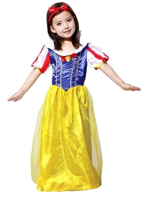 L - Costume di Carnevale da Biancaneve per Bambine - 6 - 7 Anni - 120 9c5d2a15a33