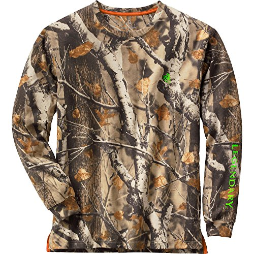 Legendary Whitetails Mens Typical Long Sleeve Tee Big Game Field Camo XXX-Large