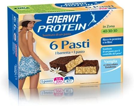Proteína Enervit 6 comidas Vainilla / Chocolate 6 bares ...