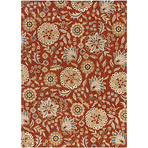 Surya Athena ATH-5126 Hand Tufted Wool Floral and Paisley Area Rug, 8-Feet by 11-Feet