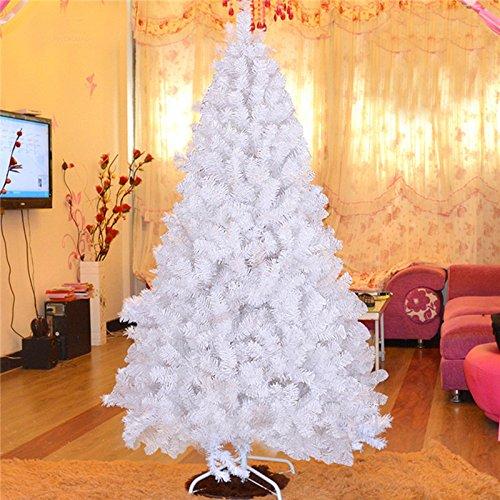 Weiß LaDicha Weihnachtsfeier Wohn-Dekoration 2.1M MultiFarbe Tree Mit Eisernen Feet Ornament Spielzeug-Kids Schenken - Weiß