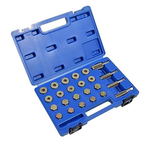 Supercrazy 64pcs Oil Pan Drain Plug Thread Repair Tool Kit M13 M15 M17 M20  SF0041