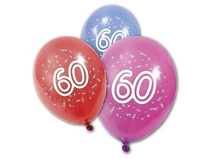 COOLMP - Lote de 12 Globos de látex para cumpleaños de 60 ...