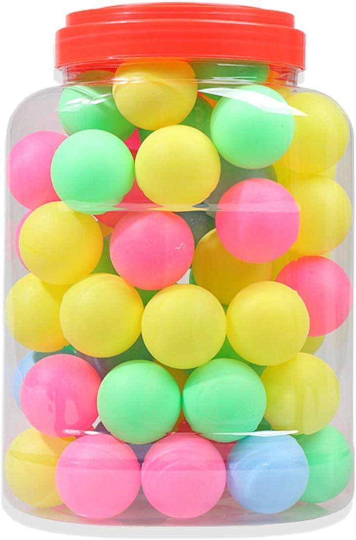 Bola de Tenis de Mesa de Color Lotería Sorteo Bola de decoración Bola de Juguete Bola de Color Bola de Tenis de Mesa de Cubo 60 Piezas (Multicolor) ESjasnyfall