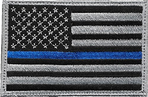 Pennant Patch - Made in USA - Thin Blue Line US Flag Patch for Police and Law Enforcement with Hook/Loop Backing