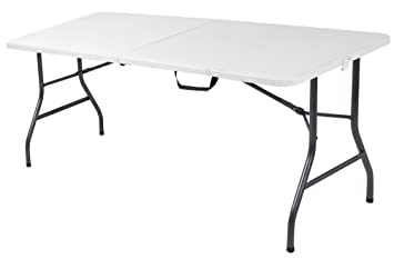 amazon cosco products centerfold folding table 6 feet white