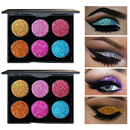 Sunfei for Chritmas Gift for Women Girls, Shimmer Glitter Eye Shadow Powder Palette Matte Eyeshadow Cosmetic Makeup (A)
