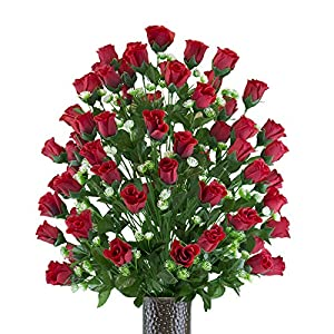 Red Sweetheart Rose Artificial Bouquet, featuring the Stay-In-The-Vase Design(c) Flower Holder (LG2168) 31