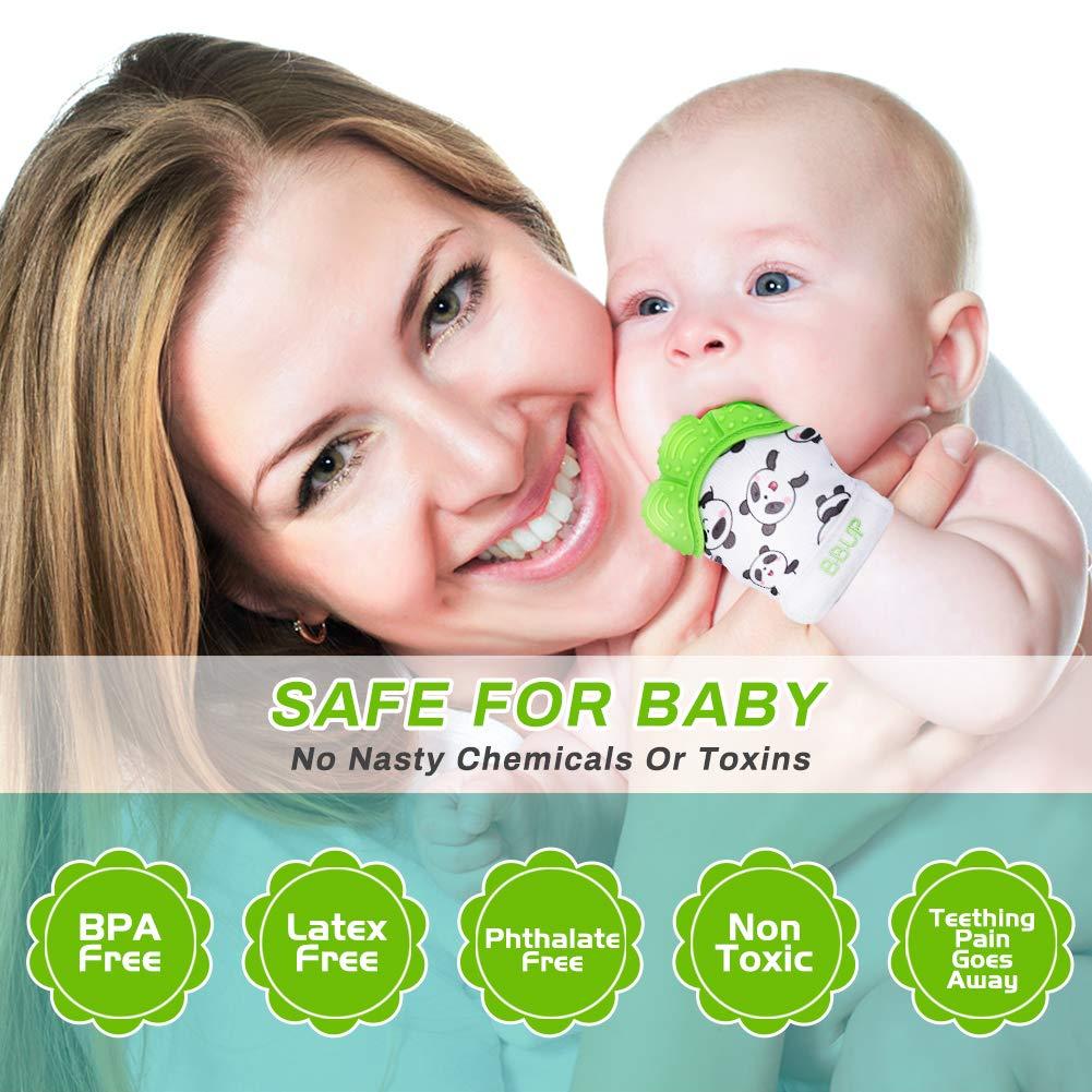 BPA free Silicon-Babys Handschuh Stimulierendes Bei/ßring-Spielzeug f/ür Jungen und M/ädchen Welltop 2 PCS Baby Teething Mitten Glove Baby Bei/ßhandschuhe-Knisternder Handschuh f/ür Babys-Age 2-12 Months