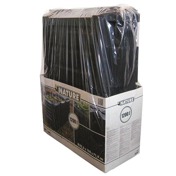 Nature Contenedor Negro Modelo Térmico para Compost Capacidad de 1200 L 6071483: Amazon.es: Jardín