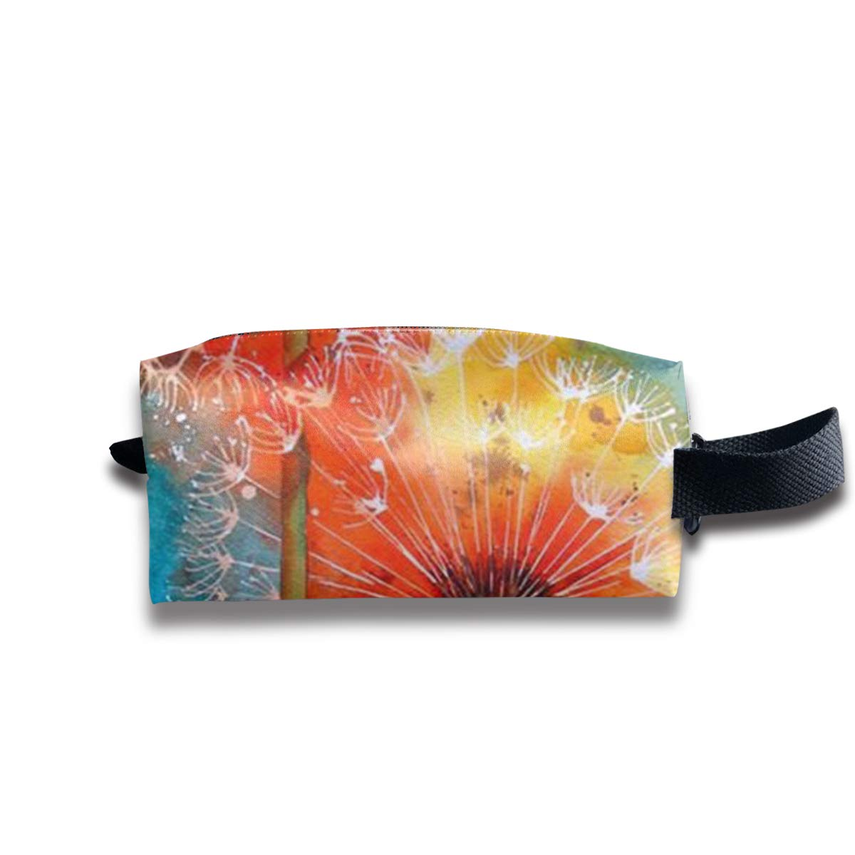 Novelty Colorful Watercolor Dandelion Portable Evening Bags Clutch Pouch Purse Handbags Cell Phone Wrist Handbags For Womens