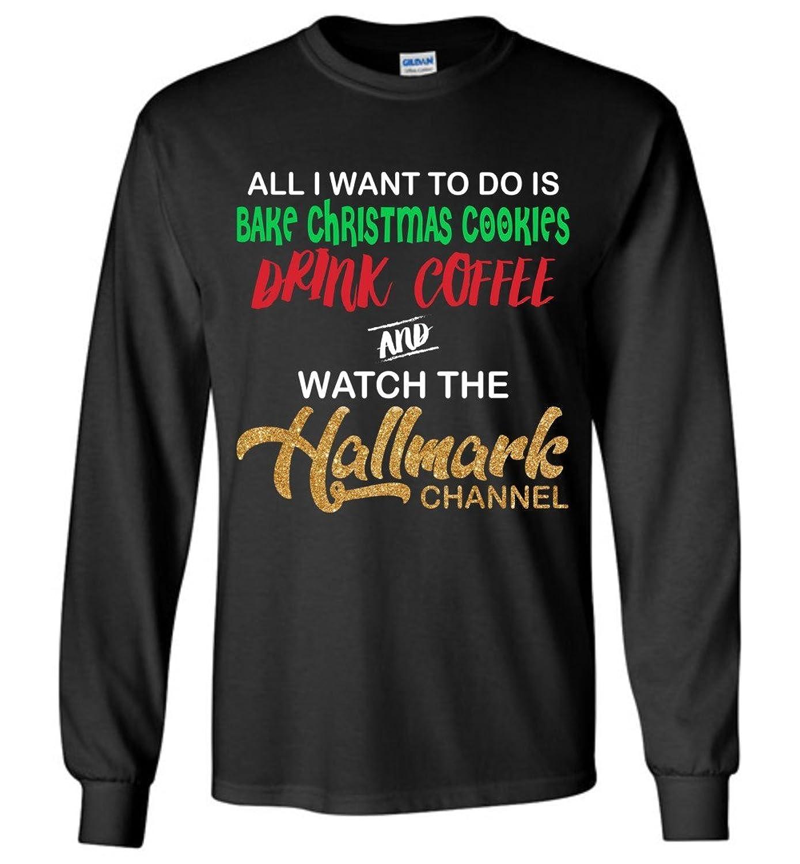 Amazon Womens Girl Loves Hallmark Christmas Movies Long T Shirt