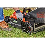 BLACK+DECKER Electric Lawn Mower, 10 -Amp, 15-Inch (BEMW472BH) 21 IMPROVED ERGONOMICS: Comfort grip handle makes the lawn mower easy to maneuver BETTER CLIPPING COLLECTION: Our winged blade achieves 30% better clipping collection NO MORE PULL CORDS: Push-button start makes starting the lawn mower a breeze