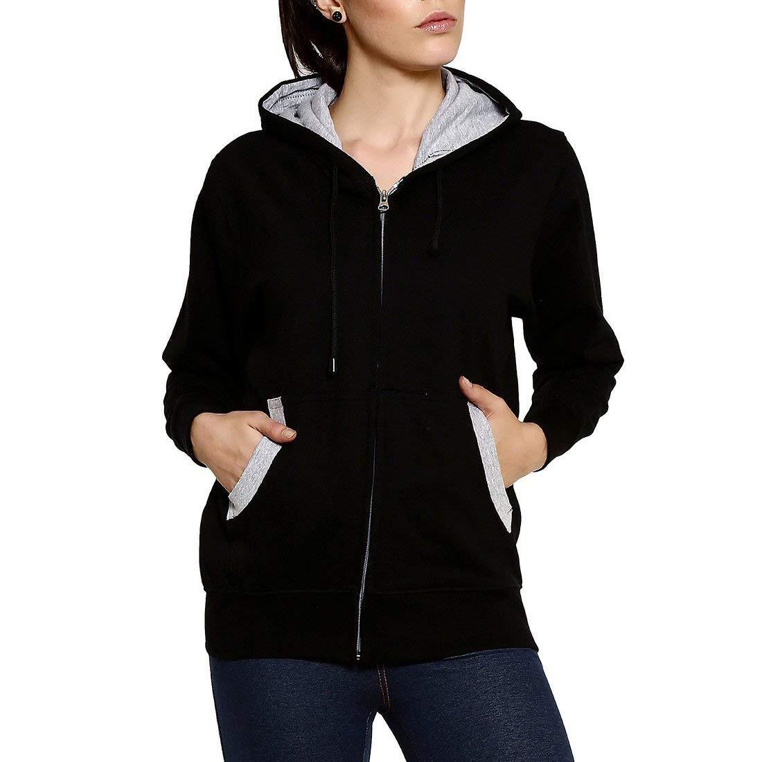Goodtry G Women's Cotton Hoodies-Black