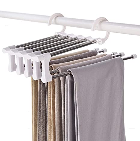 Amazon.com: Acero inoxidable pantalones perchas Jeans ...