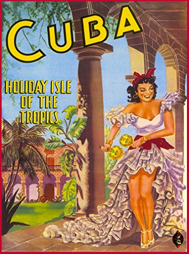 A SLICE IN TIME Cuba Cuban Havana Island Holiday in the Tropics Girl Vintage Caribbean Travel Home Decoration Collectible Wall Decor Art Poster Print. Poster measures 10 x 13.5 inches
