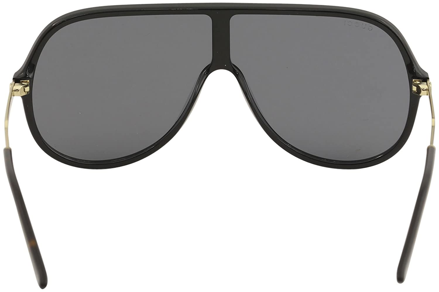 4cf6d6376c4a0 Amazon.com  Gucci GG 0199S 001 Black Plastic Shield Sunglasses Grey Lens   Clothing