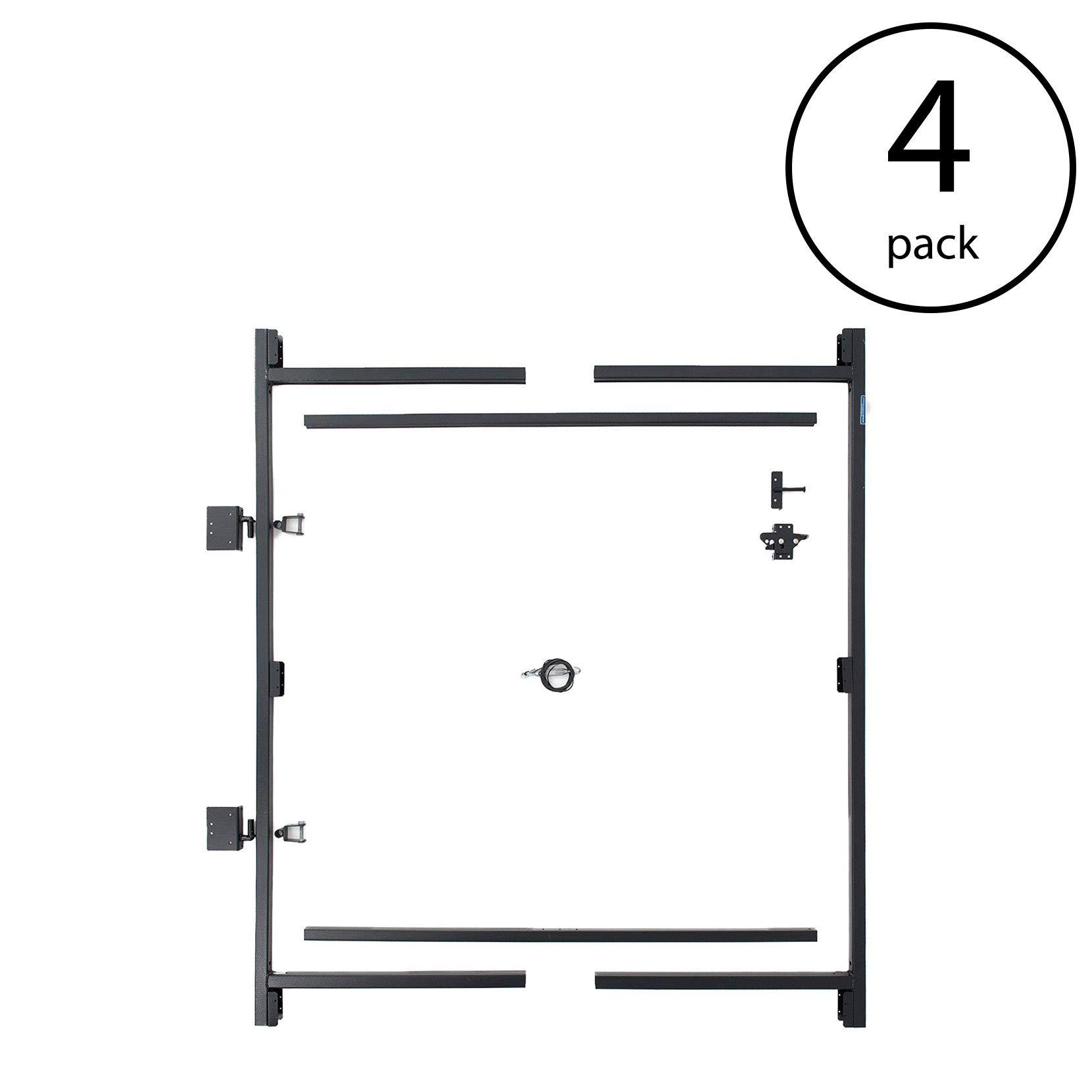 Adjust-A-Gate Steel Frame Gate Building Kit, 60''-96'' Wide, 6' High (4 Pack)