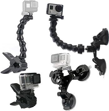 //3//2//1 Ajustable Jaws Flex Clamp Mount per GoPro Hero Hero 6//5//4//3 Sony Fotocamera