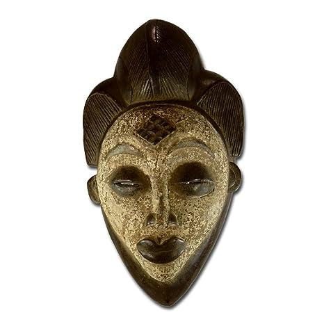 Exclusivo africana máscara de madera, Punu Tribu