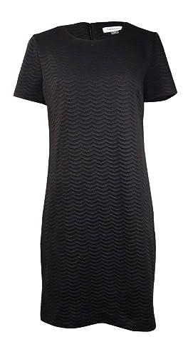 Calvin Klein Women's Textured Ponte Shift Dress CD5P2R2J